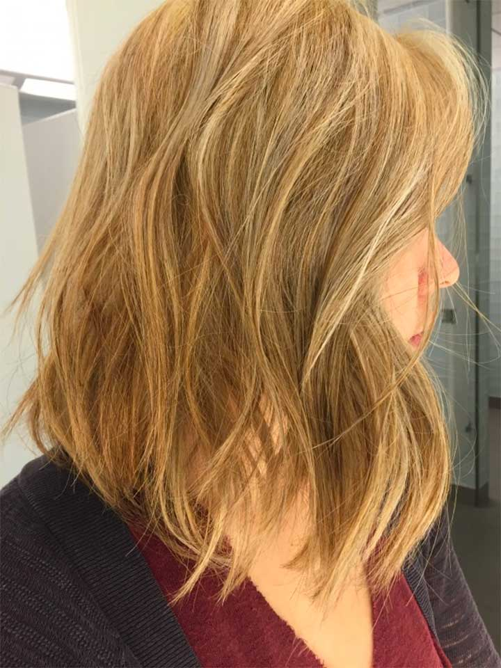 What is the process of going from brunette to blonde?