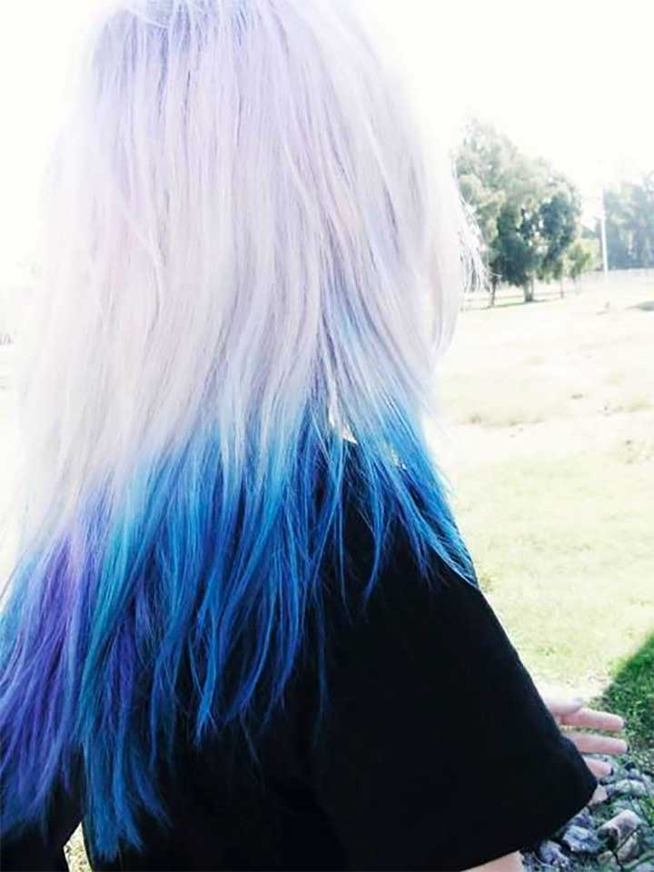 White And Blue Ombre