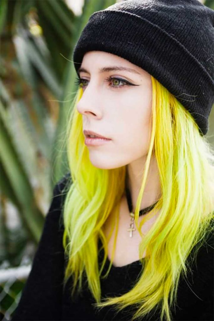 Trendy Yellow Hair Color Ideas