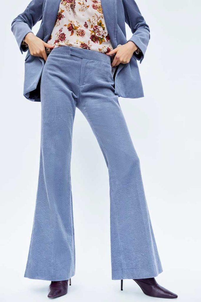 Zara Flared Corduroy Trousers