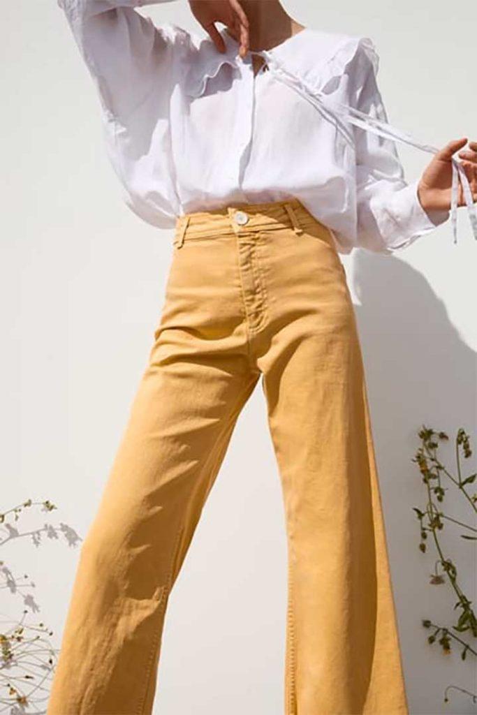 Colored Jeans: Zara Mustard Jeans