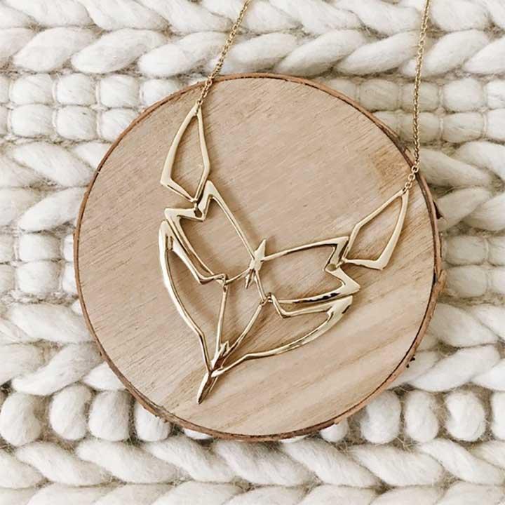 Alexis Bittar Geometric Linked Bib Necklace
