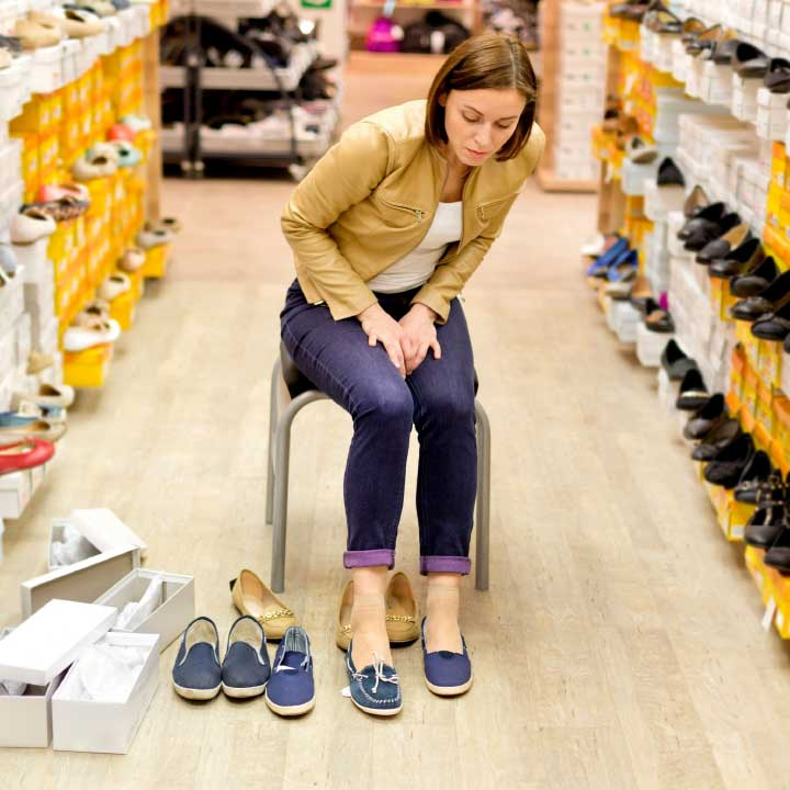 What should you look for when buying shoes?