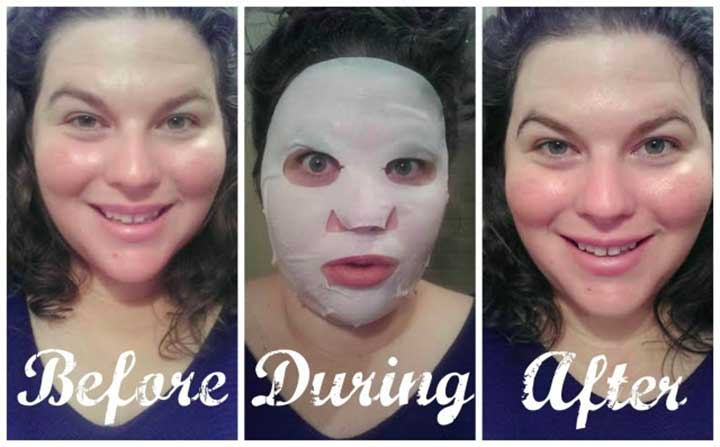 Egg cream sheet mask before after photos