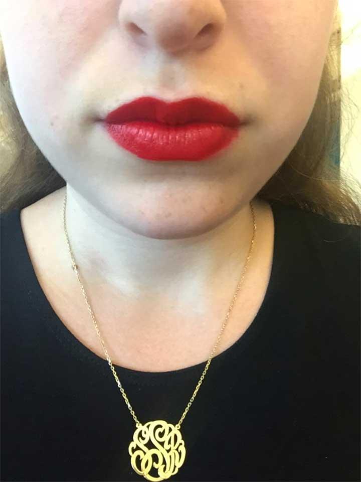 Estée Lauder Lipstick: before application