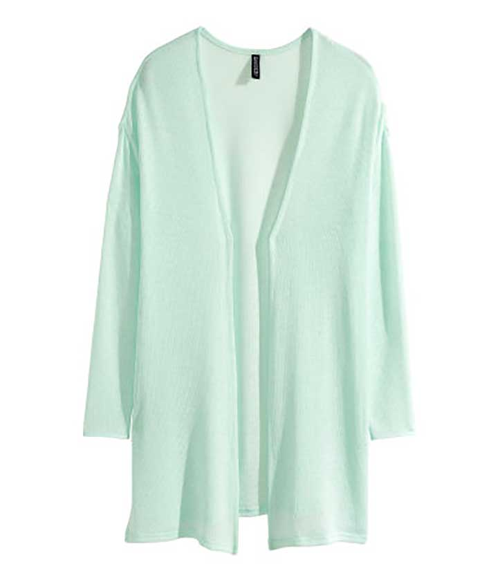 How To Wear Pastels For Fall: fine-knit cardigan
