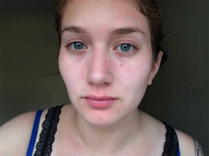 GlamGlow YouthMud review: after photos