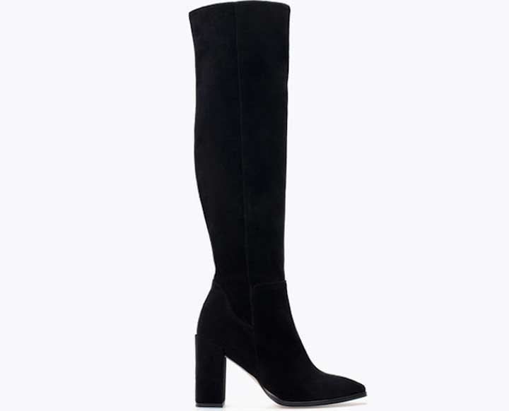 High-Heeled Leather Boot from Zara