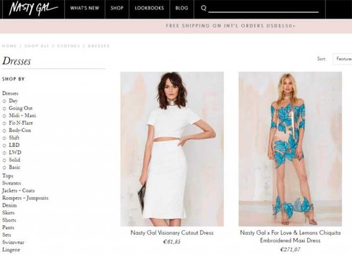 Favorite Women's Fashion Online Store: Nasty Gal