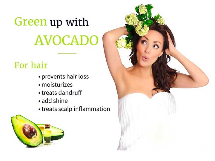 Use eggs, avocado, olive oil and other natural products