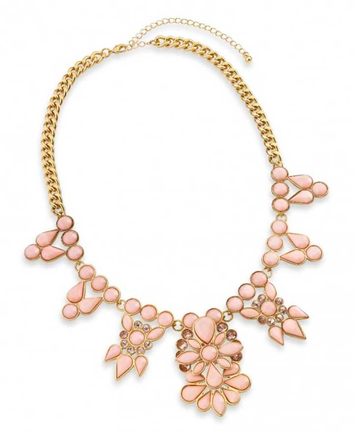 Pastel Pink Statement Necklace