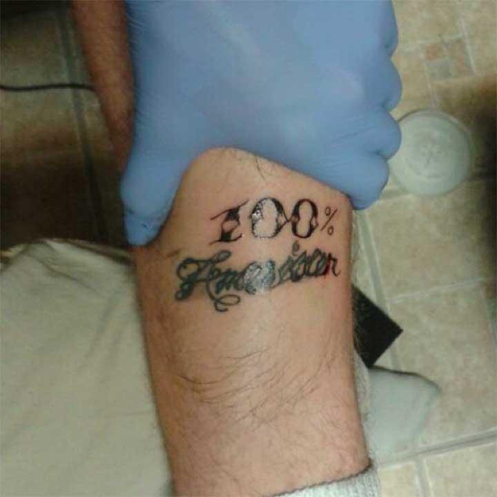 100 Percenter Tattoo Ideas