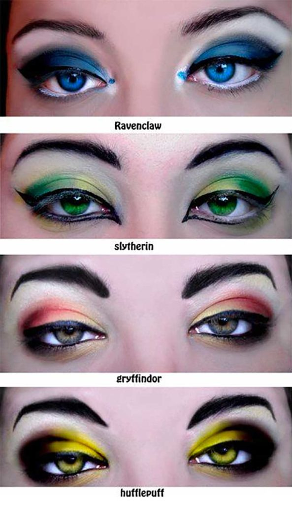 Harry Potter Themed Makeup Tutorials: All The Houses