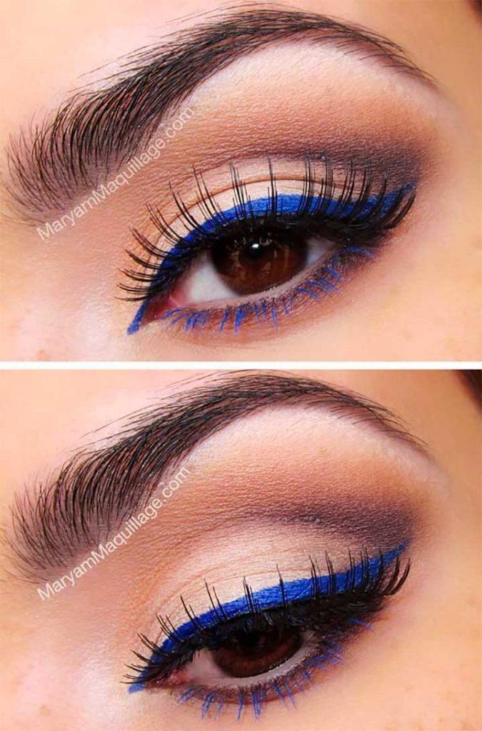 Blue Liner And Mascara