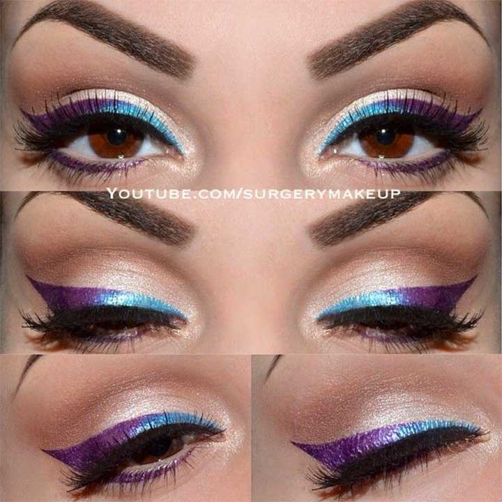 Blue To Purple Ombre Liner