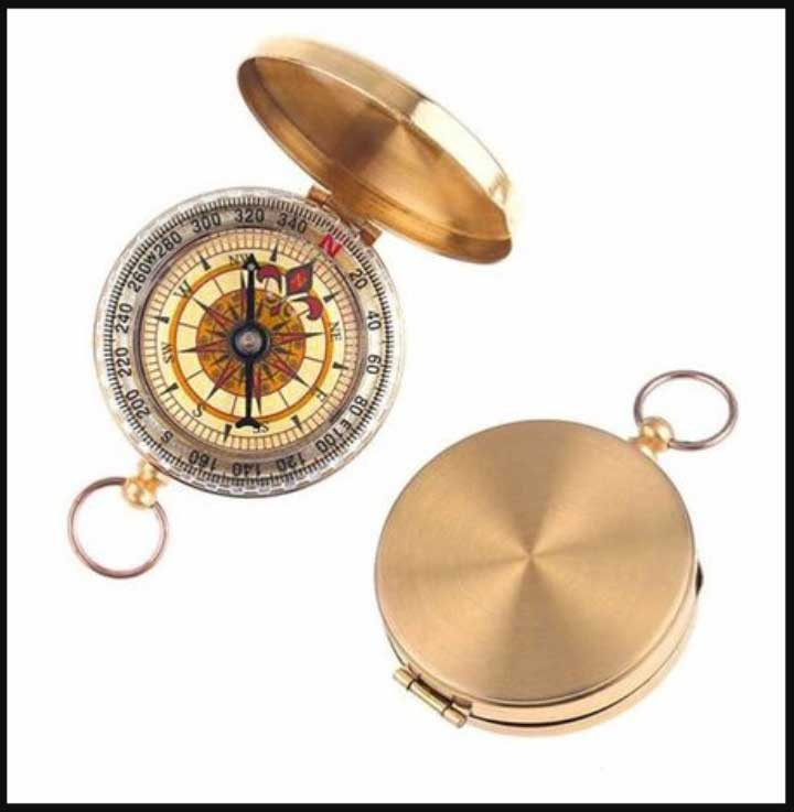 Brass Pocket Watch with Engraving