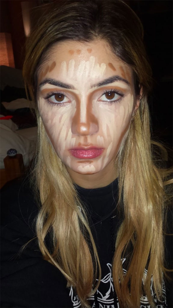 Changing face shape