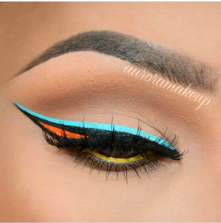 Colorful Cutout Liner
