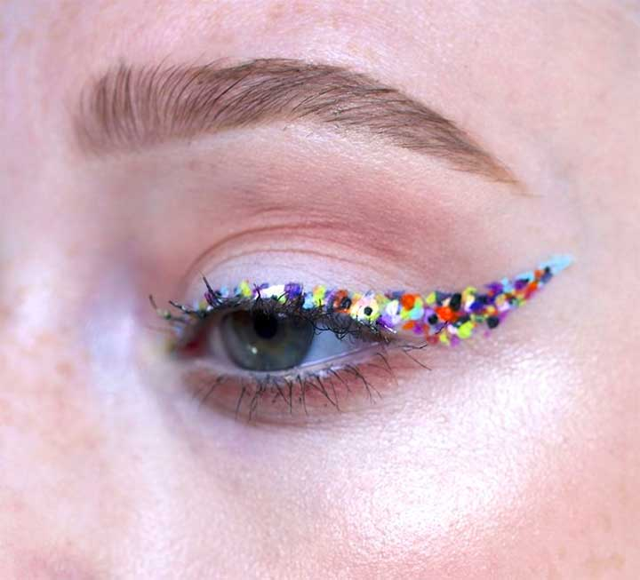 Colorful Flecked Liner