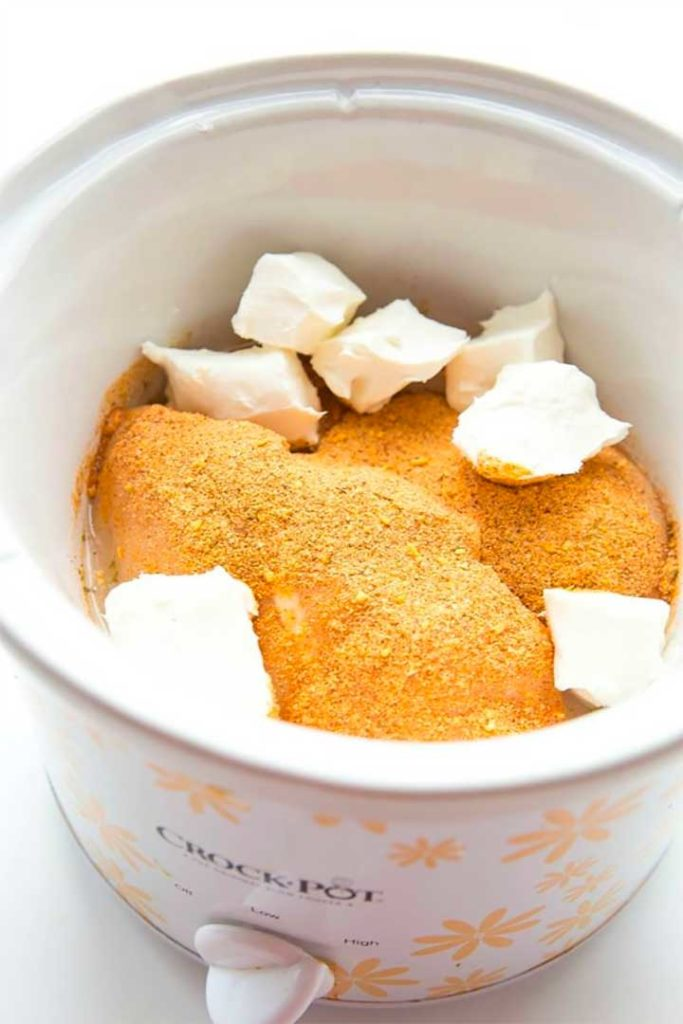 Crock Pot Cream Cheese Chicken Taquitos