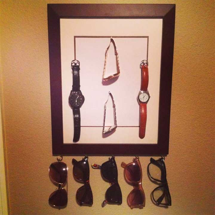 DIY picture frame watch holder