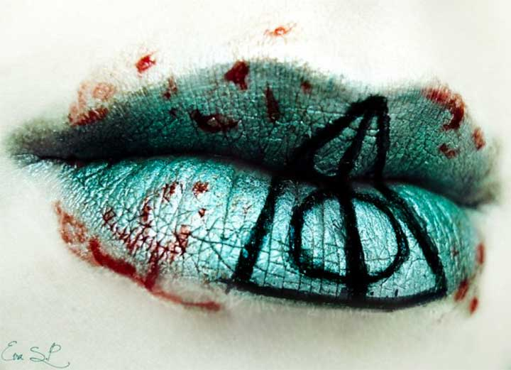 Deathly Hallows Lip Art