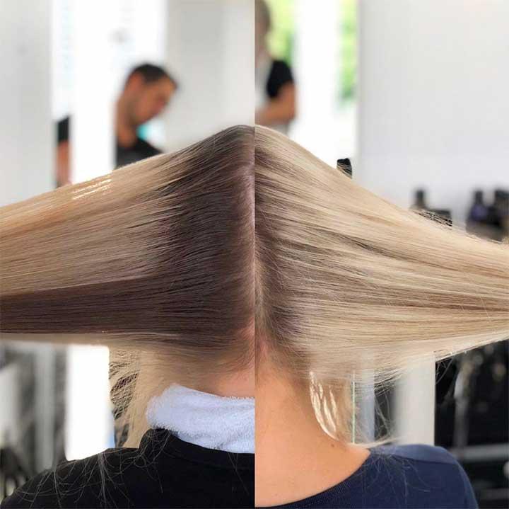 partial vs full highlights blonde