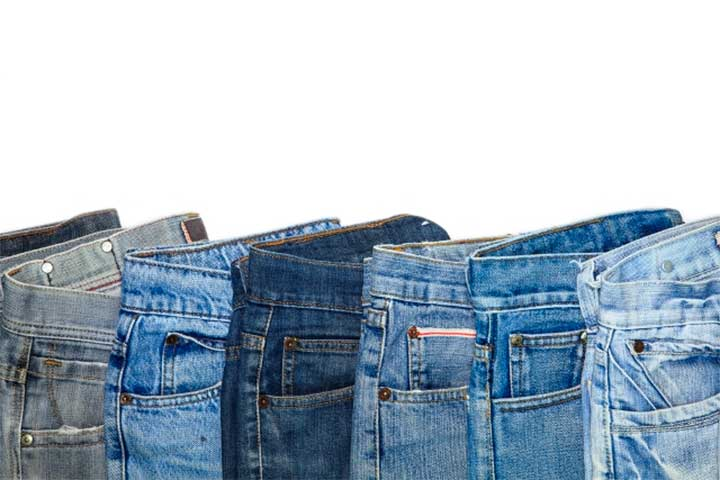 Different Colored Jeans Row