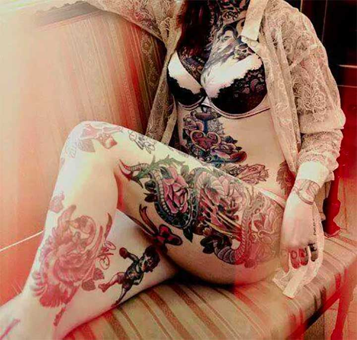 Dragon Legs Thigh Tattoo