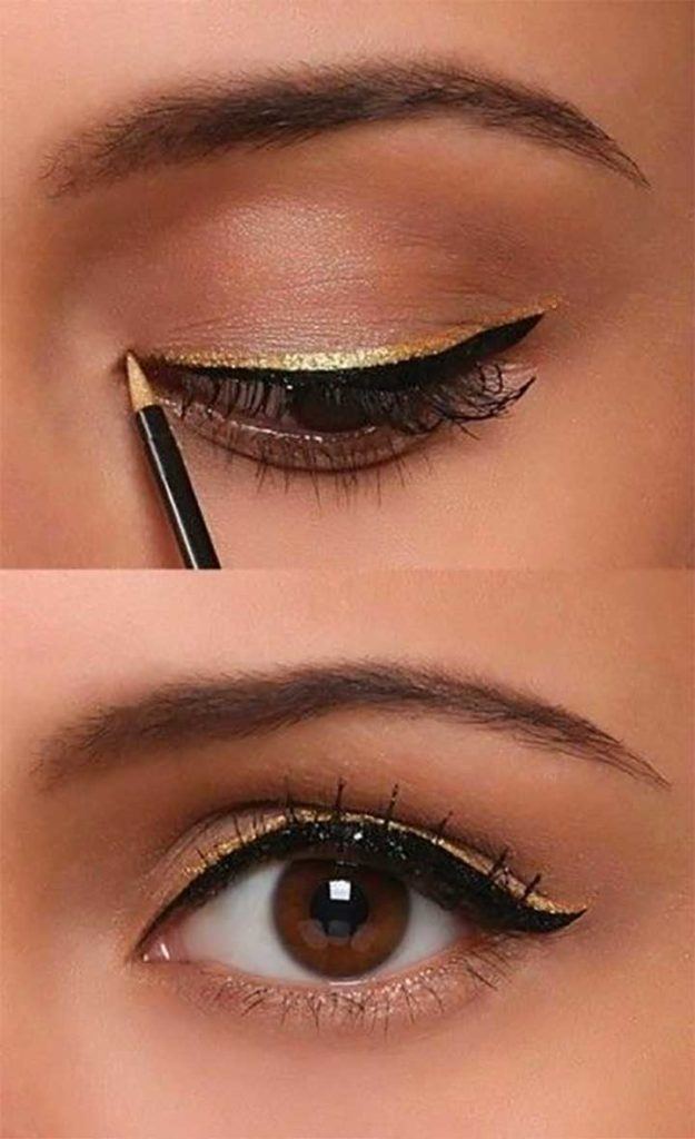 double winged eyeliner step by step
