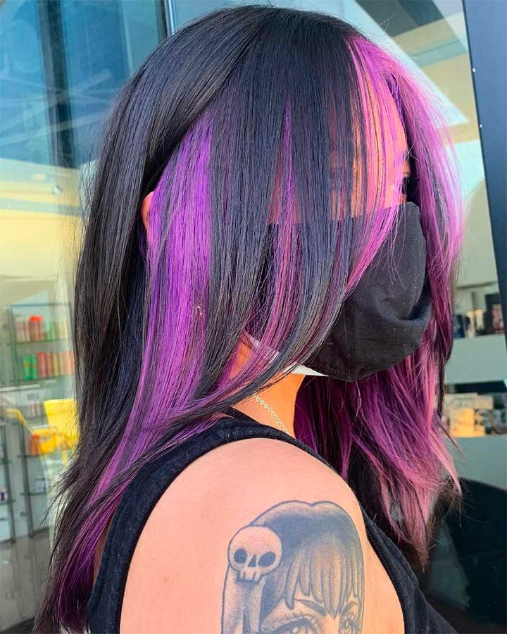 how to dye your hair purple without hair dye