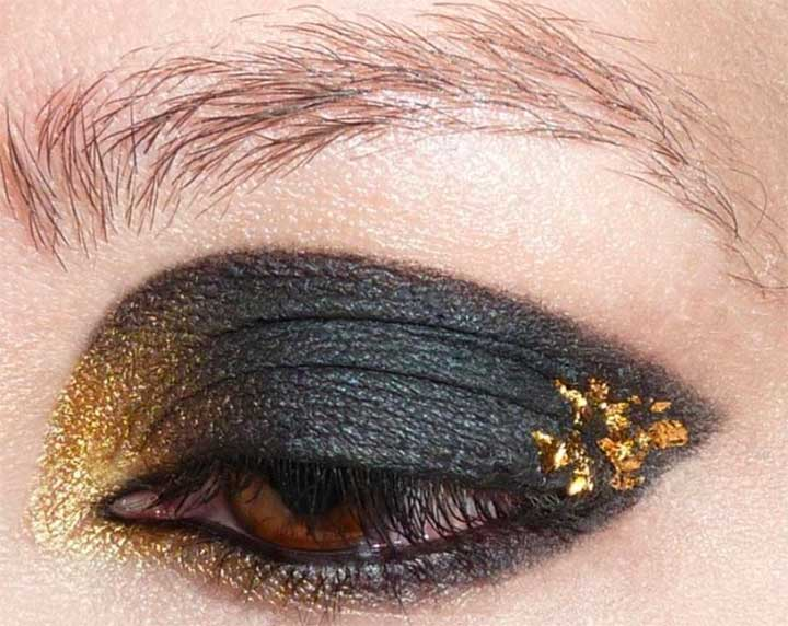 Gold Hufflepuff Smokey Eyes
