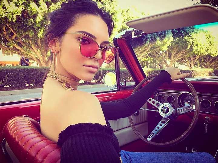 Kendall Jenner Car Instagram Selfie
