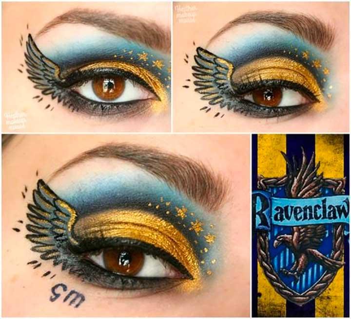 Best Harry Potter Themed Makeup Tutorials: Ravenclaw Eyes