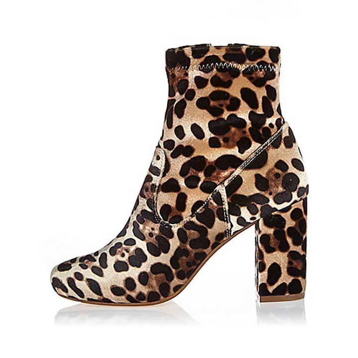 Leopard Print Sock boots