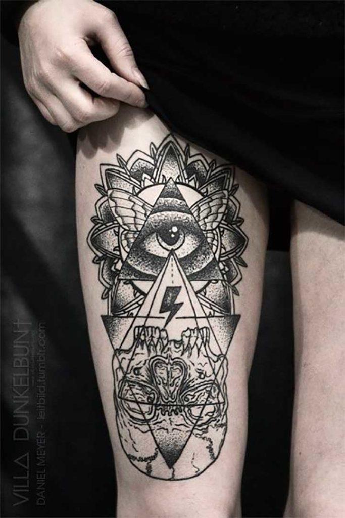 Skully Eyes Tattoo