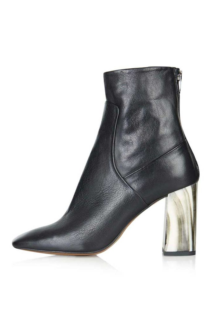 Muse Bone Heel Ankle Boots