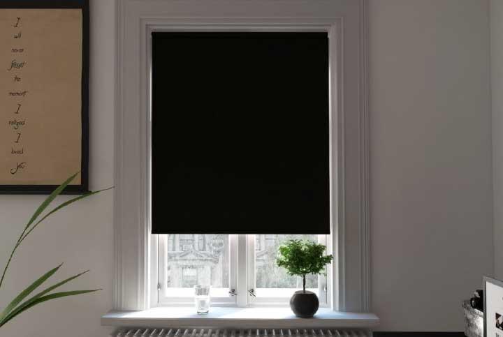 Toscana Black/White Blackout Roller Blind
