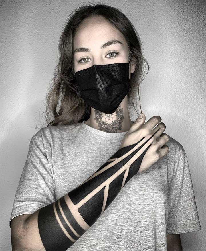 tribal wrist tattoos for ladies