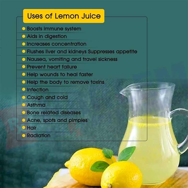 Uses of Lemon Juice