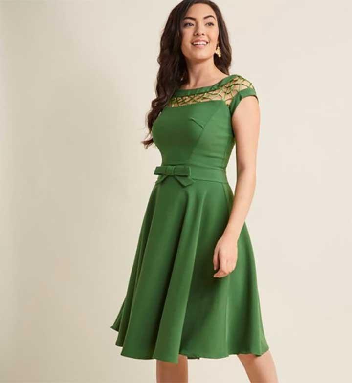 Wink Dress In Peridot