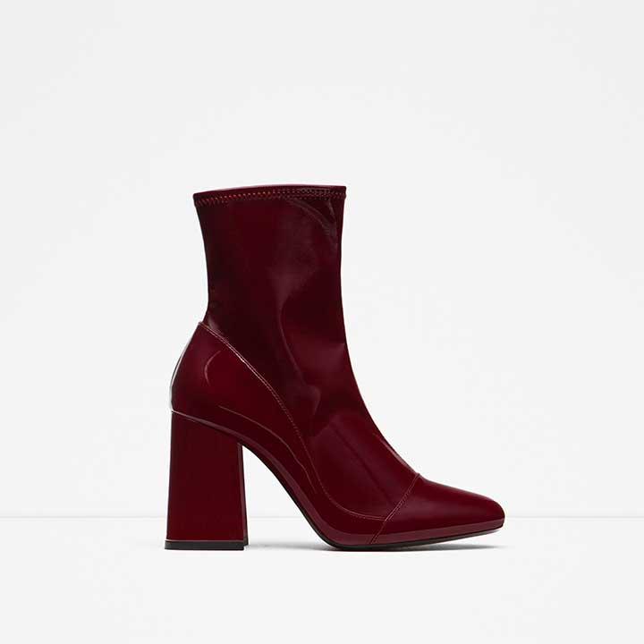 Zara High Heel Sock Boots