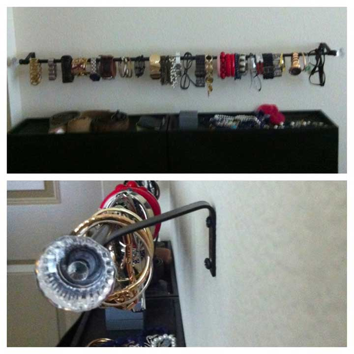 curtain rods - DIY Watch Holders