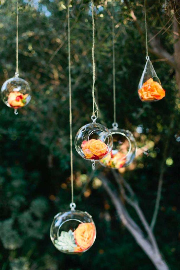 floral bubble tree decor
