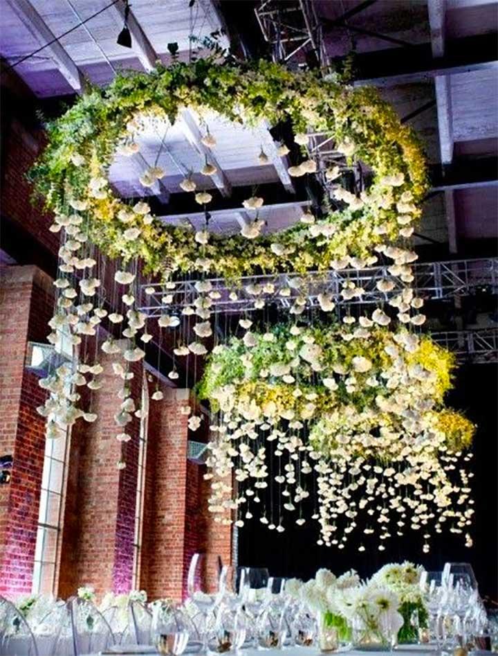 Floral shower centerpiece décor
