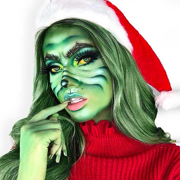 grinch makeup tutorial
