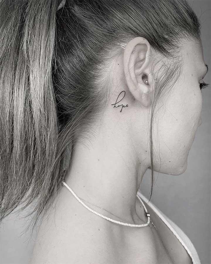 hope tattoo small