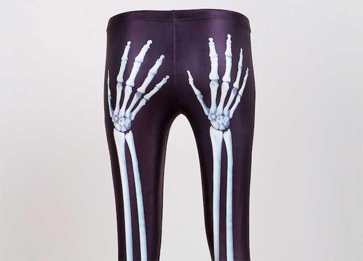 skeleton hands leggings