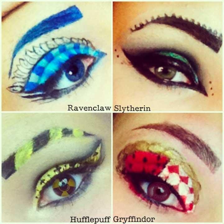 slytherin inspired eyeshadow makeup tutorial