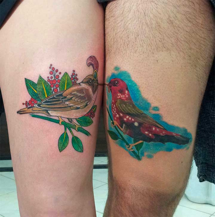 small tattoo birds